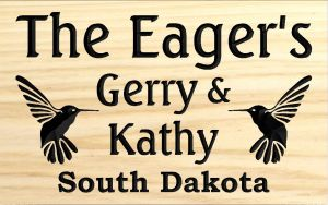 """The Eager's"" sign"